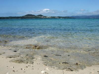 カヤマ島ビーチ。