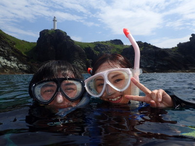 石垣島 御神崎灯台 ダイビング シュノーケリング