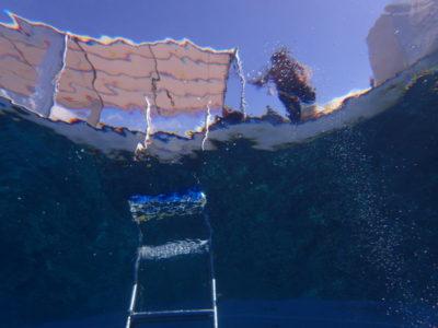 石垣島 ダイビング 船 水中写真 凪